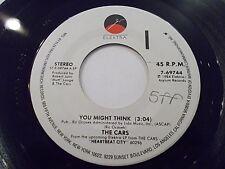 The Cars You Might Think / Heartbeat City 45 1984 Elektra Vinyl Record