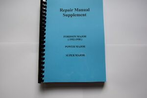 Fordson Major Tractor Repair Manual
