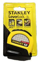 """Stanley STHT30810 Lever Lock Tape Rule, 12' x 1/2"""" 3.5.0m Write on Label   1191"""