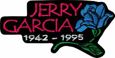 19134 Jerry Garcia Blue Rose Grateful Dead Hippie Embroidered 60s Iron On Patch
