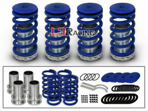 90-97 Honda Accord COILOVER LOWERING COIL SPRINGS KIT BLUE