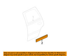 GM OEM REAR DOOR-Body Side Molding Right 15199293