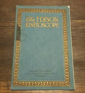 1914 EDISON KINETOSCOPE CATALOG MOTION PICTURE MOVIE FILM SUPPLY ILLUSTRATED