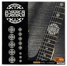 Emblem 12Th Fret Markers Set In Metallic Inlay Sticker Decal For Guitar - Celtic