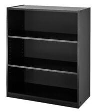 3 Shelf Wood Bookcase, Wide Storage Book Display bookshelf Adjustable shelving