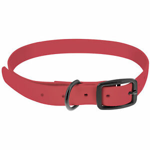 MiMu All Weather Dog Collar, Large - Pink Plastic Dog Collar with Prong Buckle