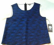 Vince Camuto Shirt Blue Black sleeveless Top New Size Small