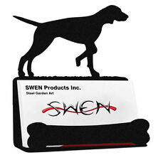 Swen Products English Pointer Dog Black Metal Business Card Holder
