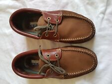 MENS STERLING AND HUNT BROWN MOCASSIN DECK SHOES SIZE 6