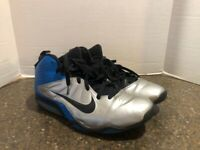 NIKE AIR MAX PURE GAME MEN'S BLUE/BLACK/SILVER BASKETBALL SHOES SIZE 12
