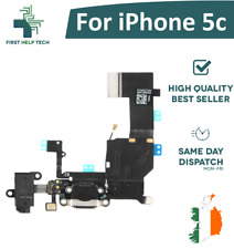 For iPhone 5c Charging Port Connector Mic Headphone Jack Flex Cable Black New