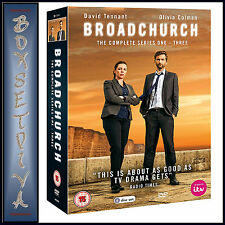 BROADCHURCH - COMPLETE SERIES 1 2 &  3 *** BRAND NEW DVD BOXSET***