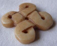 Indio, tallada a mano, grano de hueso Nudo Decorativos, bronceado ligero, 26 mm, Para Manualidades