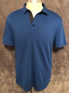 Men's - Lululemon Blue Polo Shirt - Size Large