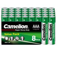 Camelion AAA 40 Batterien 1,5V R03 Super Heavy Duty Long Life Micro Shrink SP8