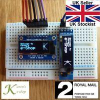 """0.91"""" 128x32 IIC I2C SPI OLED Display Module for Arduino White/Blue"""