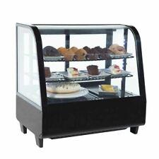 More details for refrigerated countertop food display cafe deli merchandiser fridge 100 litre