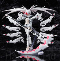 """Anime White Rock Shooter PVC Figure Toy Model with Box 6"""""""