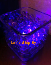 100g Purple Water Bead + 12 Led submersible Wedding Home Decoration Vase light