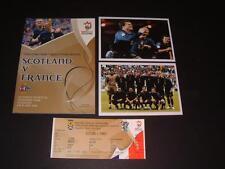 Scotland V FRANCE 1-0 2006 programmes & billet euro 2008 Qualifier & PHOTOGRAPHS