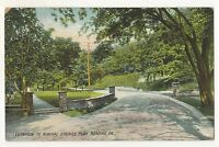 Entrance to Mineral Springs Park, READING PA Vintage 1910 Pennsylvania Postcard