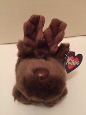"NWT Puffkins Moose Gus  Plush 4"" Stuffed Animal Swibco Rare Beanbag"