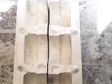 """THREE 3"""" CAT BOX BASES, CERAMICHROME C-1510, Slip Casting Ceramic Mold"""