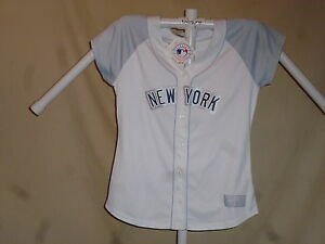NEW YORK YANKEES Majestic sewn FASHION JERSEY  Womens 2XL  size-22-24  NWT white