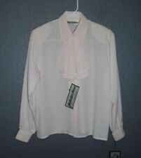 YVES ST CLAIR PINK, LG SLEEVE, REMOVABLE DECORATIVE TIE, COVERED BUTTONS 4P  NWT
