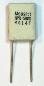 2 x Meggitt HPR Ceramic Radial Current Shunt Resistor 14mΩ 1% 5W PSU Amp Sensing