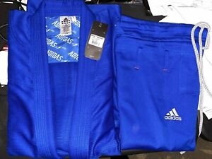 adidas Quest Jiu Jitsu Gi Blue A4 Gi & Pants w/ Bag
