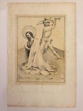 Jean (Jan) Van Eik (Eyck) Execution Scene Lithograph c 1826