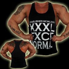 Explosive Fibres Black XXXL FXCK NORMAL Bodybuilding/Gym Stringer Vest: Large