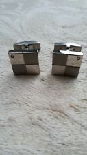 Diamond Titaniuim cufflinks, new without tags. 10% donation to NHS