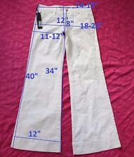 139$ NWT Miss Sixty DL0041 NEW TULUM W24 L34 jeans flare stretch cotton white