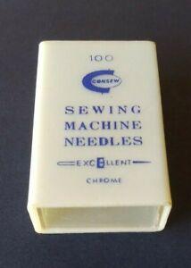 VINTAGE CONSEW, CHROME SEWING MACHINE NEEDLES EXCELLENT ORGAN BRAND DISPENSER