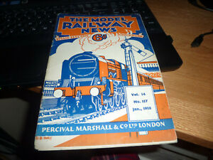 VINTAGE RAILWAY MAGAZINE THE MODEL RAILWAY NEWS JANUARY 1938 VOL.14 NO.157