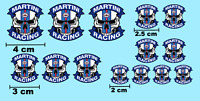 Decals MARTINI RACING SKULL decal Slot car Model hobby decalcomanie