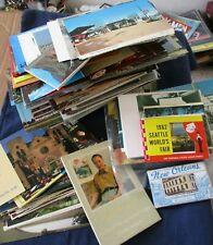 Lot of 236 Postcards Oversize Continental Size Souvenir Folders Booklets & Misc