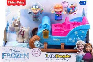 Fisher Price Little People Disney Frozen Kristoff's Sleigh w/ Princess Anna Swen