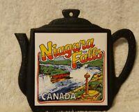 Vintage Niagara Falls Canada Cast Iron Teapot Tile Trivet