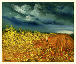 """Maurice Vlaminck lithograph by Mourlot """"The Harvest"""""""