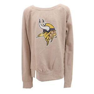 Minnesota Vikings Official NFL Teen Apparel Girls Sequin Light Sweatshirt New