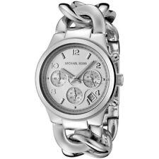 Women's Watch Michael Kors MK3149 Runway Dress Watches Quartz Date Silver-Tone