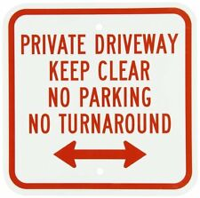 "SmartSign Aluminum Sign, Legend ""Private Driveway No Parking No Turn Around"" wit"