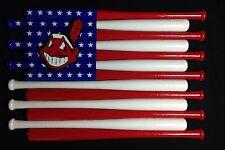 Cleveland Indians Custom Baseball Bat Flag