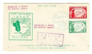 Philippines JAPANESE OCCUPATION-Sc#N26,#N27-FIRST DAY-MANILA MAYO/7/1943