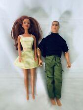 Red Hair Barbie with GI Joe Doll