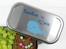 Butterbrotdose Wal und Namen personalisiert BPA-frei