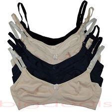6 Nursing Bra Maternity Breastfeeding Motherhood Wire Free Black Nude Beige 7723